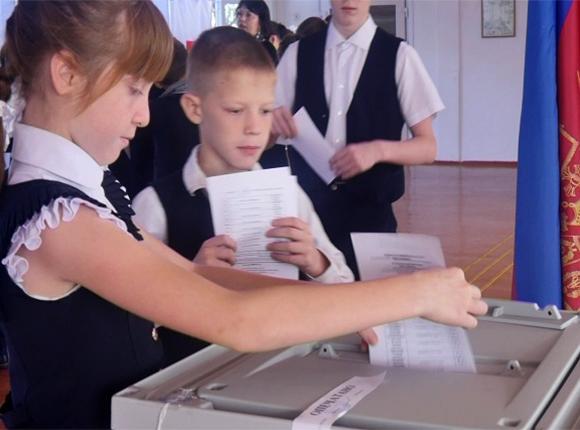 В Брюховецком районе провели выборы президента школы