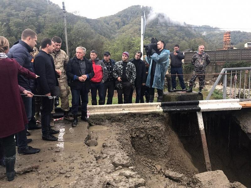 Кондратьев провел рабочий день в пострадавшем от непогоды Туапсинском районе