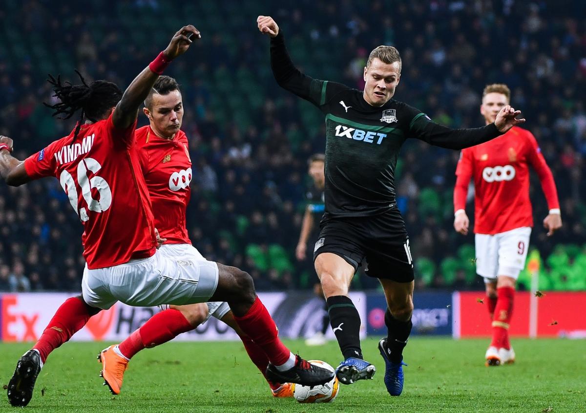 Как ФК «Краснодар» сыграл с бельгийским «Стандардом» в матче Лиги Европы