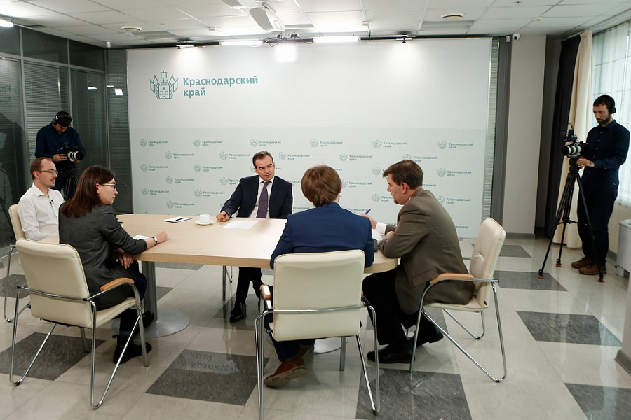 Вениамин Кондратьев пообщался с представителями федеральных информационных агентств