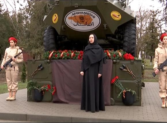В Тбилисском районе открылся памятник жертвам войны в Афганистане