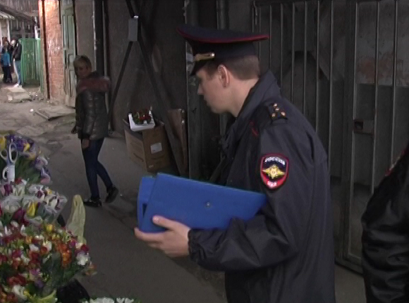 В Краснодаре полицейские оштрафовали торговцев первоцветами