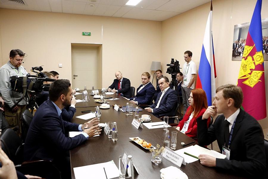 Кондратьев встретился с участниками конкурса «Лидеры России» из Краснодарского края
