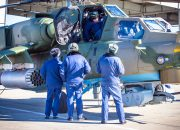 Обучение вертолетных экипажей ЮВО на боевых Ми-28УБ