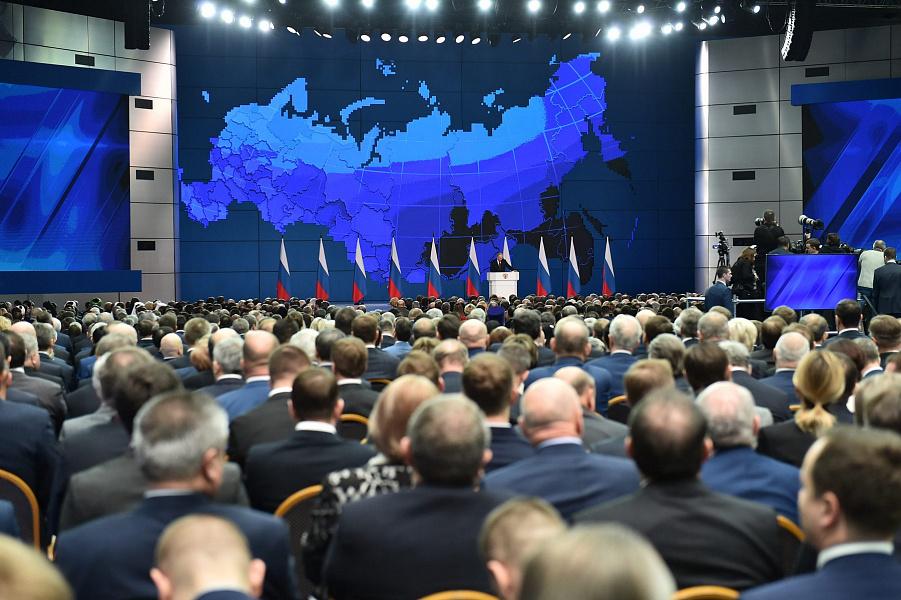 «Факты 24»: Владимир Путин обратился с ежегодным посланием к Федеральному Собранию России, Кондратьев посетил московскую школу для одаренных детей