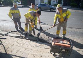 В Краснодаре завершат ремонт дорог на улице Суворова к середине августа