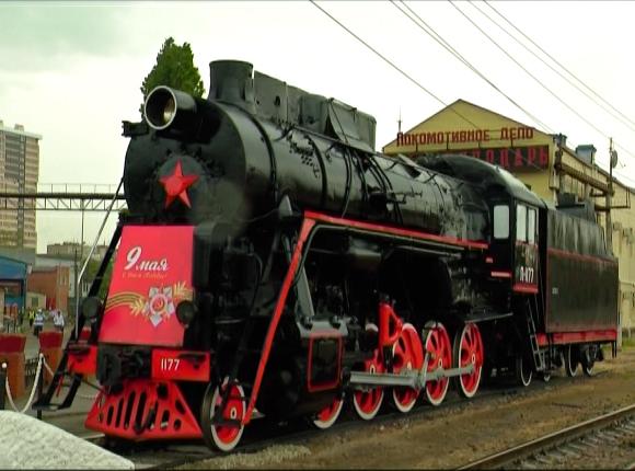 На ж/д вокзале Краснодара появился «Поезд победы»