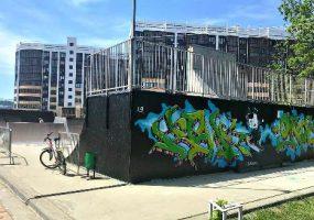 В Горячем Ключе площадку для фестиваля экстрима украсили граффити