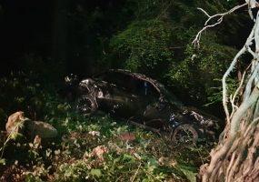 В Сочи машина упала в овраг, спасатели подняли пострадавшую на носилках
