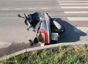 В Краснодаре пьяный парень упал с мотороллера и получил травмы