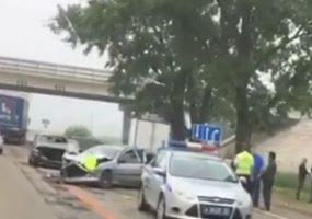 В Новокубанском районе на трассе из-за кота столкнулись четыре автомобиля