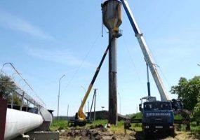 В Брюховецком районе приступили к замене водонапорной башни