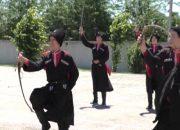 В Кропоткине проходит военно-спортивная игра «Казачий сполох»
