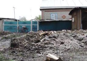 В Отрадненском районе ливень подтопил придомовые территории
