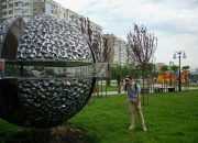 В Юбилейном микрорайоне Краснодара установили скульптуру «Точка»