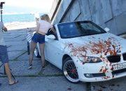 В Новороссийске молодежь устроила «кровавую» фотосессию на «Малой земле»