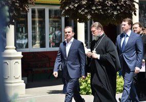 В Краснодаре Вениамин Кондратьев посетил православную школу