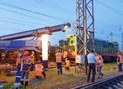 В Тихорецке с рельсов сошел локомотив
