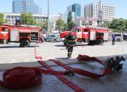 В Краснодаре сотрудников мэрии эвакуировали для тушения условного пожара