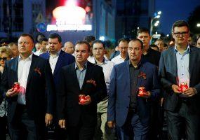 В Краснодаре прошла всероссийская патриотическая акция «Свеча памяти»