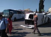 В Сочи при столкновении двух туристических автобусов пострадали 11 человек