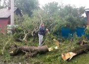 В Отрадненском районе ликвидируют последствия дождя
