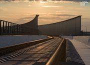 На железнодорожной части Крымского моста соединили рельсы