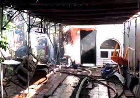 В Геленджике полицейские спасли постояльцев из горящей гостиницы