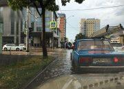 В Краснодаре прошел сильный ливень с градом
