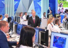 За прямой линией с президентом РФ следили более 100 млн жителей страны