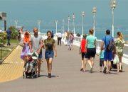 В Геленджике открыли новый участок центральной набережной