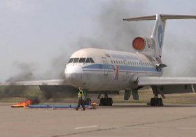 В Краснодаре в аэропорту пожарные провели учения