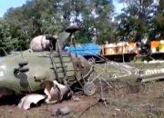 Установили личность пилота вертолета Ми-2, рухнувшего в Лабинском районе