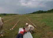 В Абхазии на базе ЮВО прошел первый летний военный биатлон