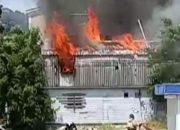 На Кубани спасатели потушили пожар в частном доме, двух ларьках и столовой