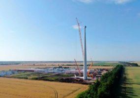 На Адыгейской электростанции собрали первую ветроустановку