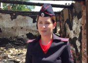 Сотрудница полиции рассказала, как тушила гараж в Калининском районе