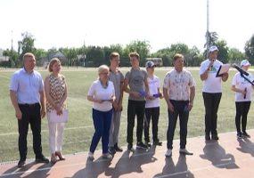 Российская батутистка Ирина Караваева посетила фестиваль в станице Северской