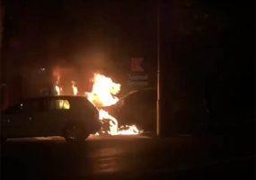 В Краснодаре сгорел Lexus. Видео