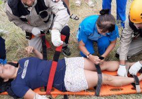В Геленджике на горе Безумной туристка упала с верблюда