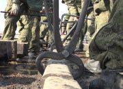 На Кубани на учениях железнодорожники восстановили разрушенные противником пути