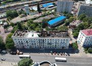 В Краснодаре приступили к разбору крыши горевшего дома на улице Мира