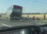 Полиция: в ДТП с автобусом в Кущевском районе никто не пострадал