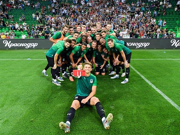 ФК «Краснодар» провел на своем стадионе открытую тренировку