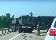 В Кореновском районе два военных грузовика попали в ДТП