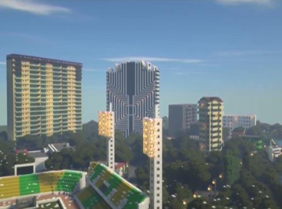 Школьник создал 3D-модель Краснодара в игре Minecraft