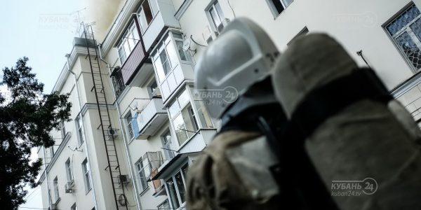 Пожар в пятиэтажке на улице Мира в Краснодаре. Фоторепортаж