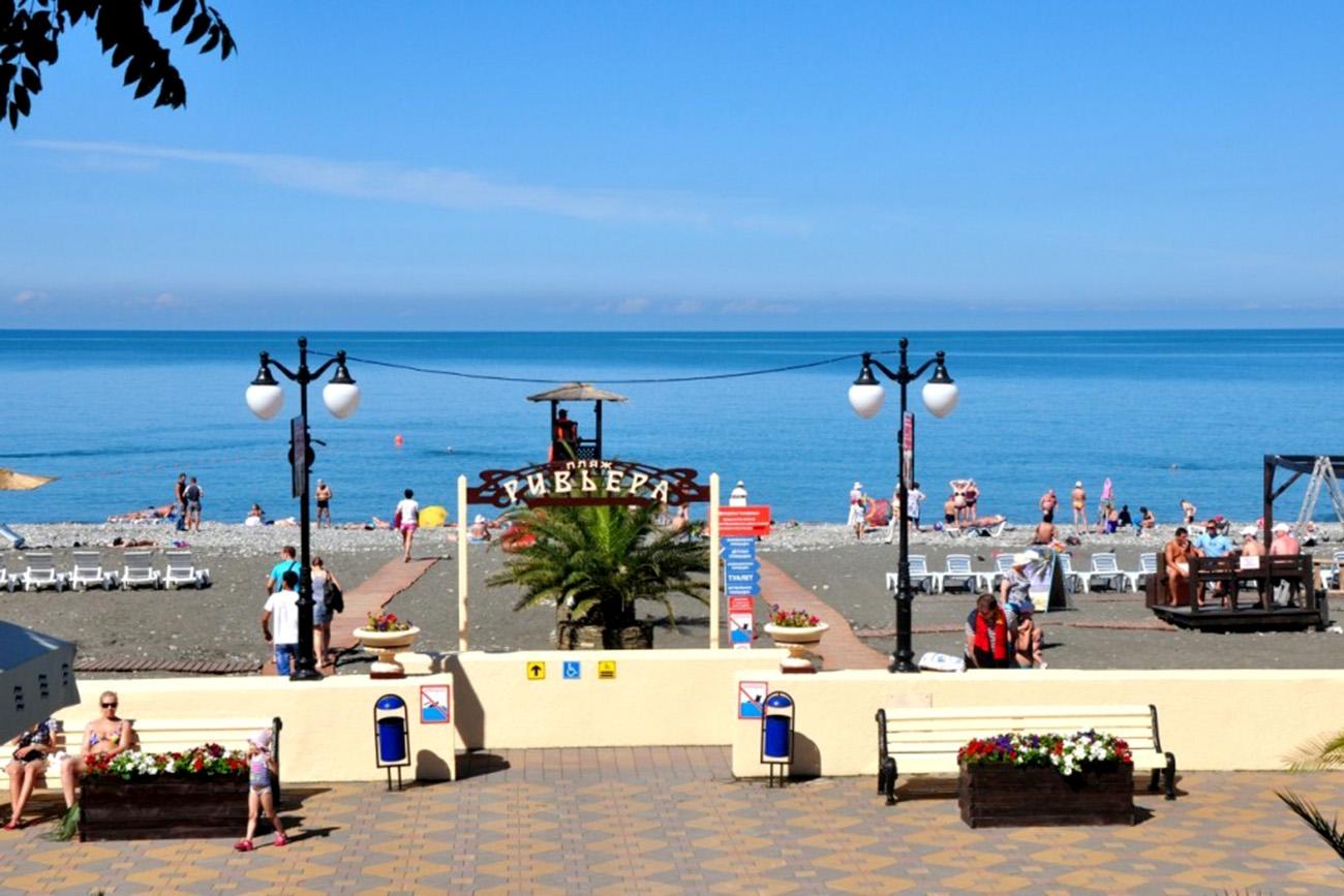 Пляж «Ривьера», город Сочи