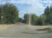 Жители Краснодара сняли на видео пыльный смерч