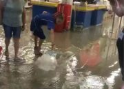 В Краснодаре затопило «Бауцентр». Видео